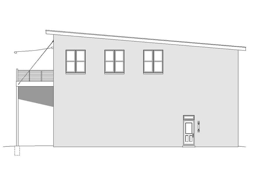 Home Plan Right Elevation of this 3-Bedroom,1400 Sq Ft Plan -196-1104