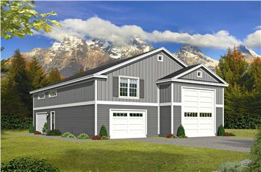 1-Bedroom, 1200 Sq Ft Vacation Homes House Plan - 196-1107 - Front Exterior
