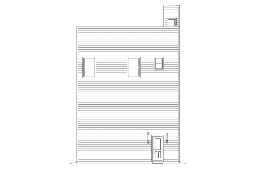 Home Plan Rear Elevation of this 3-Bedroom,2300 Sq Ft Plan -196-1108