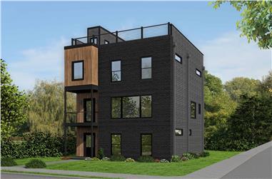 3-Bedroom, 2344 Sq Ft Modern Home Plan - 196-1110 - Main Exterior