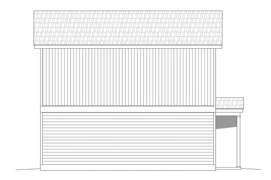 Home Plan Left Elevation of this 2-Bedroom,1400 Sq Ft Plan -196-1111