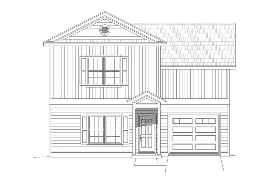 Home Plan Front Elevation of this 2-Bedroom,1400 Sq Ft Plan -196-1111