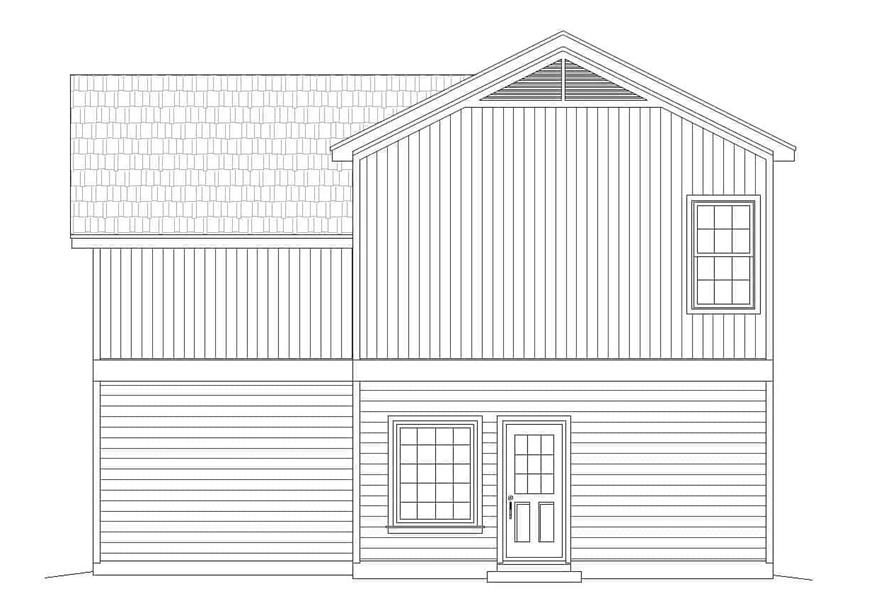 Home Plan Rear Elevation of this 3-Bedroom,2344 Sq Ft Plan -196-1111
