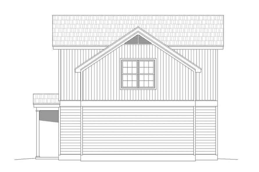 Home Plan Right Elevation of this 2-Bedroom,1400 Sq Ft Plan -196-1111
