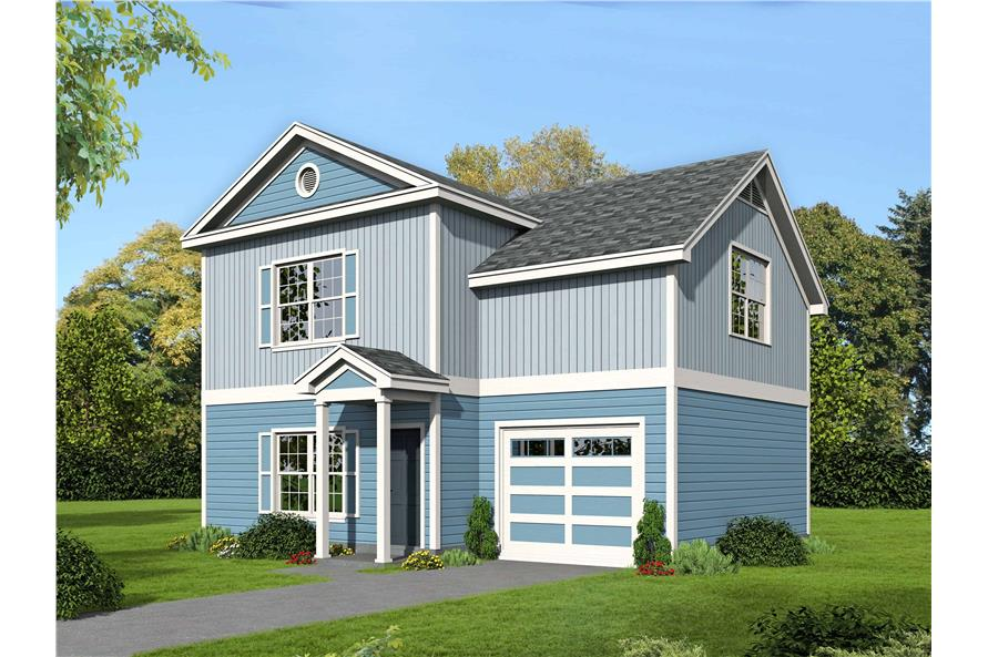 2-Bedroom, 1400 Sq Ft Farmhouse House Plan - 196-1111 - Front Exterior
