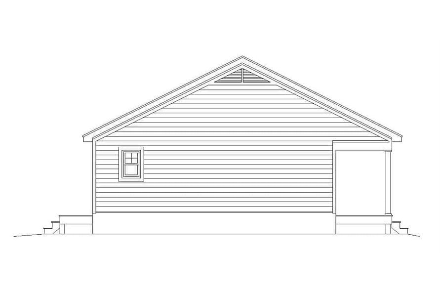 Home Plan Left Elevation of this 1-Bedroom,832 Sq Ft Plan -196-1112