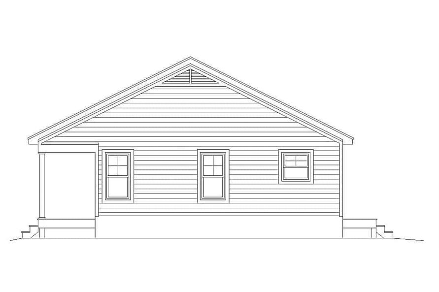 Home Plan Right Elevation of this 1-Bedroom,832 Sq Ft Plan -196-1112