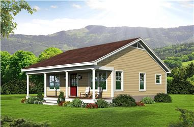 1-Bedroom, 832 Sq Ft Ranch House Plan - 196-1112 - Front Exterior
