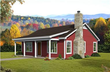 2-Bedroom, 1062 Sq Ft Ranch House Plan - 196-1114 - Front Exterior