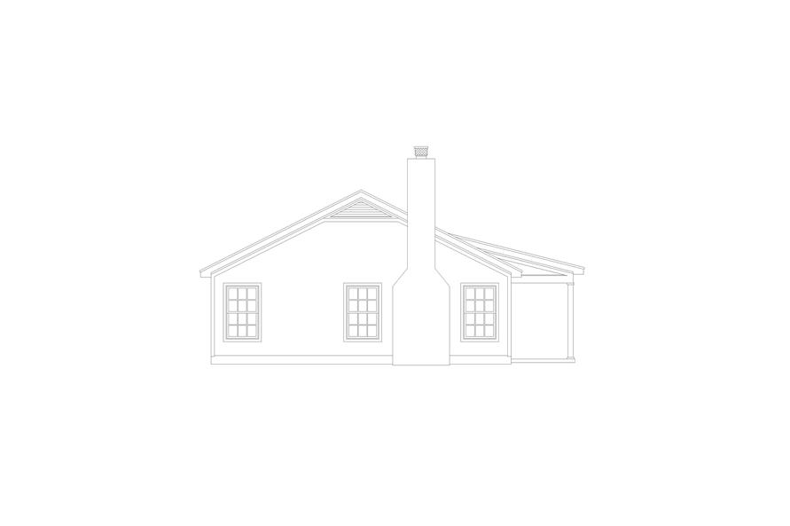 Home Plan Left Elevation of this 2-Bedroom,1000 Sq Ft Plan -196-1116