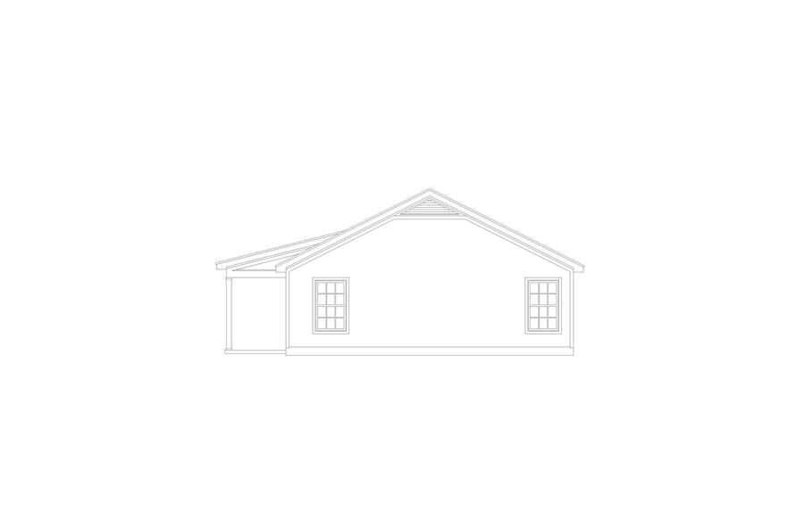 Home Plan Right Elevation of this 2-Bedroom,1000 Sq Ft Plan -196-1116