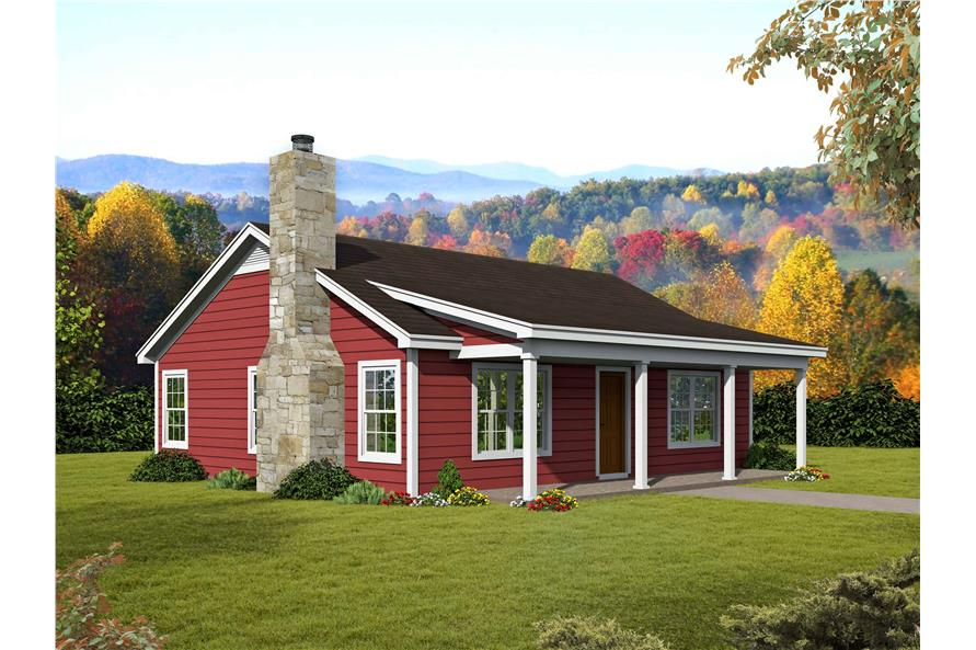 2-Bedroom, 1000 Sq Ft Ranch Home Plan - 196-1116 - Main Exterior