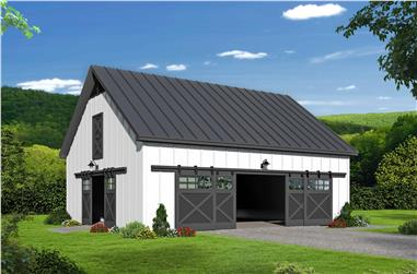 0-Bedroom, 1857 Sq Ft Barn Style House Plan - 196-1119 - Front Exterior
