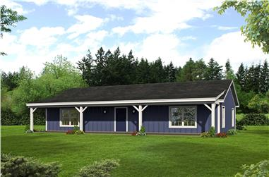 2-Bedroom, 1185 Sq Ft Ranch House Plan - 196-1121 - Front Exterior