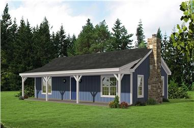 2-Bedroom, 1200 Sq Ft Ranch House Plan - 196-1123 - Front Exterior