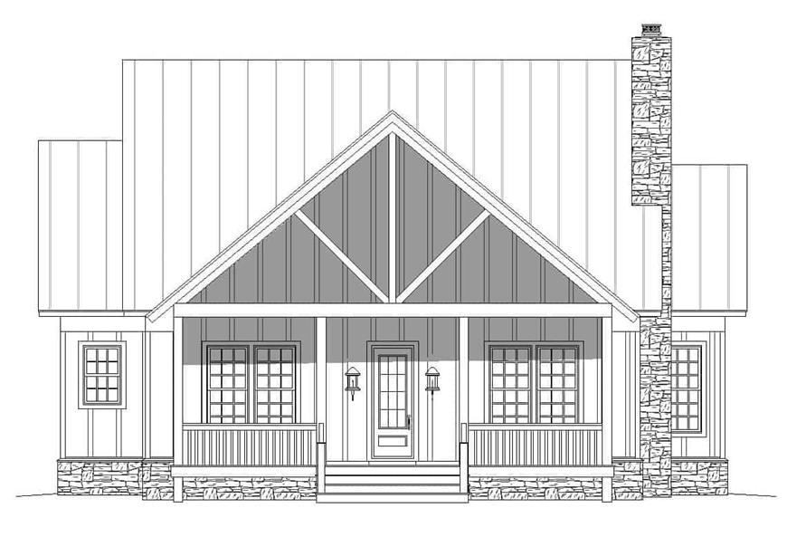Home Plan Front Elevation of this 2-Bedroom,2065 Sq Ft Plan -196-1124