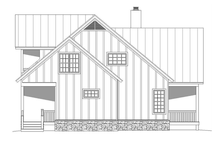 Home Plan Left Elevation of this 2-Bedroom,2065 Sq Ft Plan -196-1124