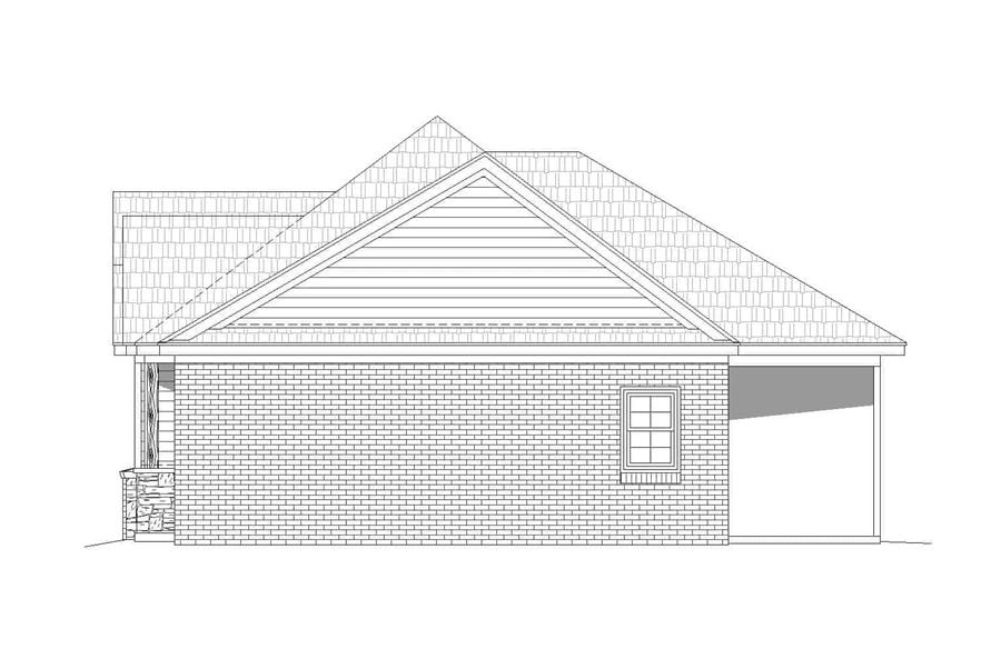 Home Plan Right Elevation of this 2-Bedroom,1234 Sq Ft Plan -196-1126