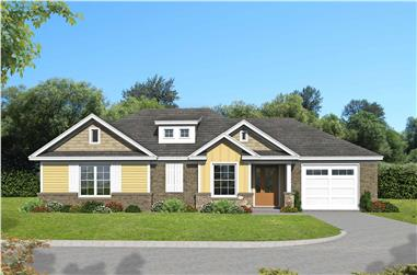 2-Bedroom, 1234 Sq Ft Craftsman House Plan - 196-1126 - Front Exterior