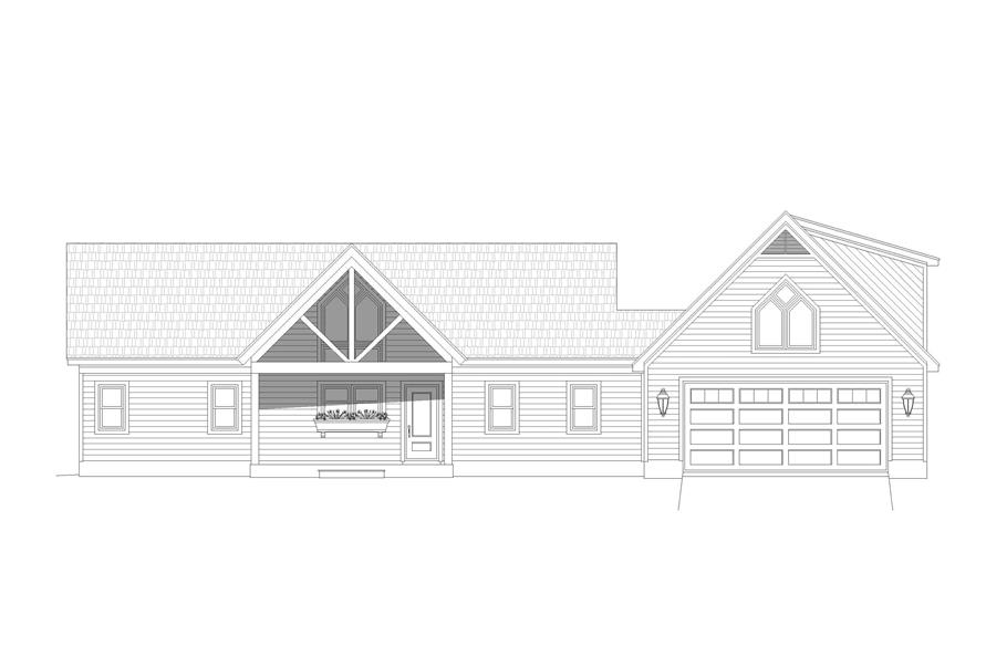 Home Plan Front Elevation of this 2-Bedroom,1761 Sq Ft Plan -196-1128