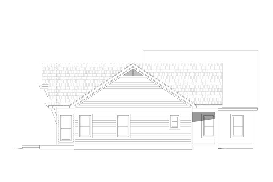 Home Plan Left Elevation of this 2-Bedroom,1761 Sq Ft Plan -196-1128