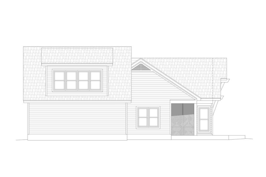Home Plan Right Elevation of this 2-Bedroom,1761 Sq Ft Plan -196-1128