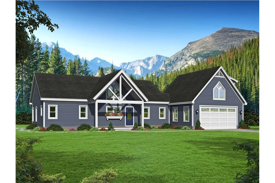2-Bedroom, 1761 Sq Ft Country House - Plan #196-1128 - Front Exterior