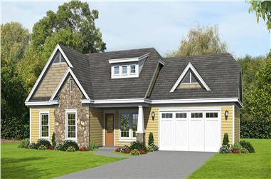 3-Bedroom, 1321 Sq Ft Ranch Home Plan - 196-1130 - Main Exterior