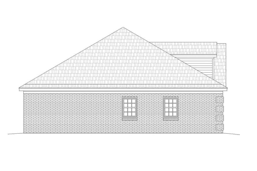 Home Plan Left Elevation of this 2-Bedroom,1370 Sq Ft Plan -196-1133