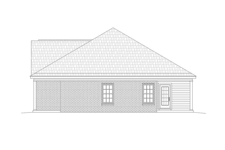 Home Plan Right Elevation of this 2-Bedroom,1370 Sq Ft Plan -196-1133