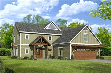 3-Bedroom, 2690 Sq Ft Country Home Plan - 196-1135 - Main Exterior