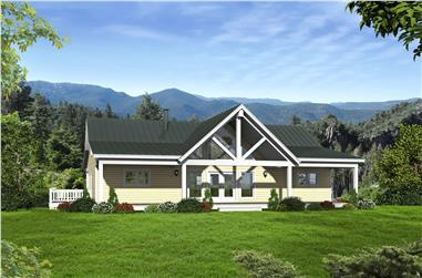 2-Bedroom, 1531 Sq Ft Country House - Plan #196-1137 - Front Exterior