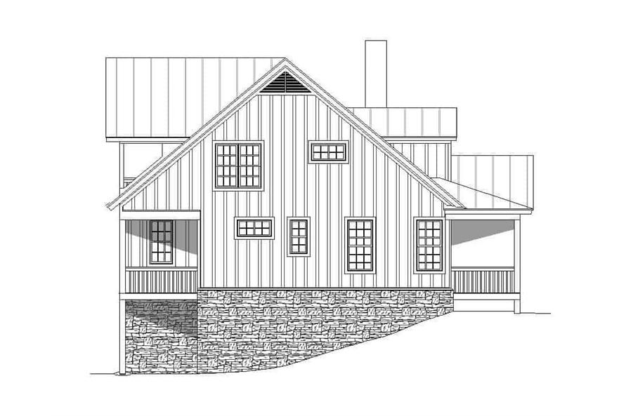 Home Plan Left Elevation of this 4-Bedroom,3100 Sq Ft Plan -196-1139