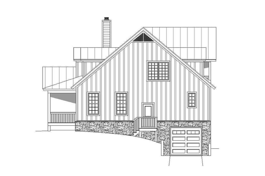 Home Plan Right Elevation of this 4-Bedroom,3100 Sq Ft Plan -196-1139