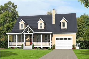 4-Bedroom, 3100 Sq Ft Country House - Plan #196-1139 - Front Exterior