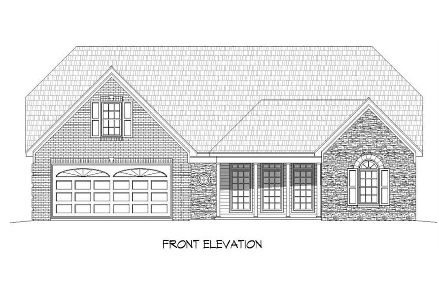 Home Plan Front Elevation of this 2-Bedroom,2569 Sq Ft Plan -196-1146