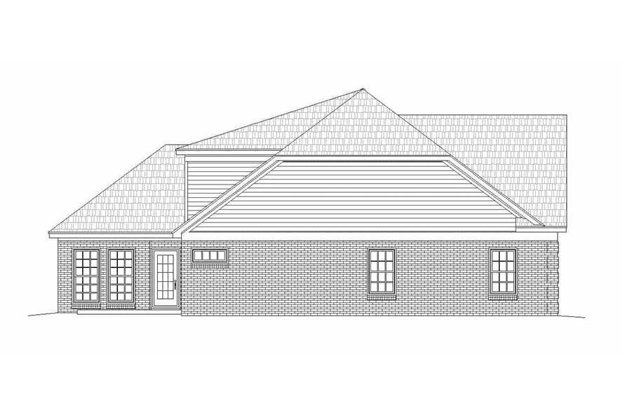 Home Plan Left Elevation of this 2-Bedroom,2569 Sq Ft Plan -196-1146