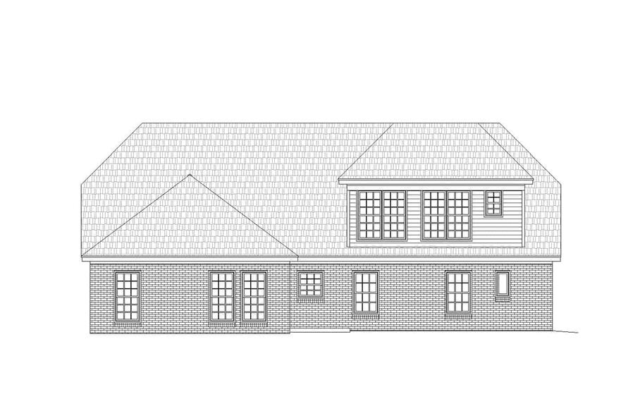 Home Plan Rear Elevation of this 2-Bedroom,2569 Sq Ft Plan -196-1146