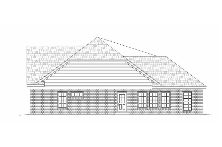 Home Plan Right Elevation of this 2-Bedroom,2569 Sq Ft Plan -196-1146