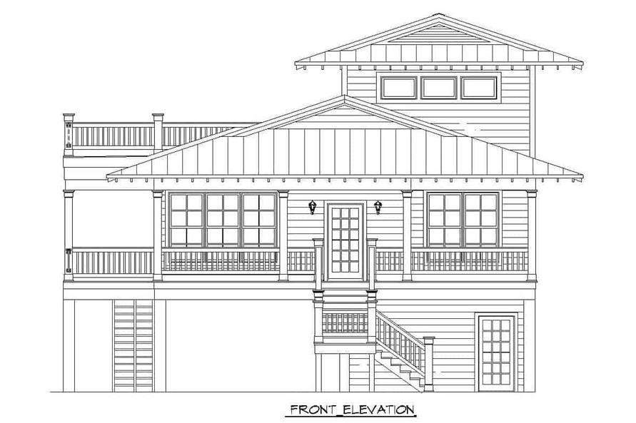 Home Plan Front Elevation of this 3-Bedroom,2118 Sq Ft Plan -196-1148