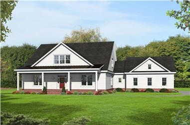 4-Bedroom, 3230 Sq Ft Country Home Plan - 196-1150 - Main Exterior