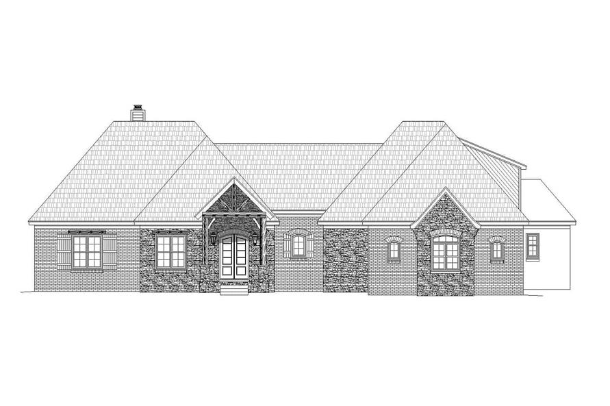 Home Plan Front Elevation of this 3-Bedroom,3447 Sq Ft Plan -196-1161