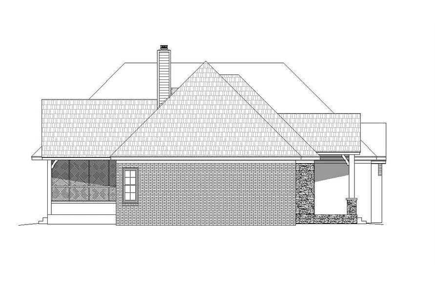 Home Plan Left Elevation of this 3-Bedroom,3447 Sq Ft Plan -196-1161