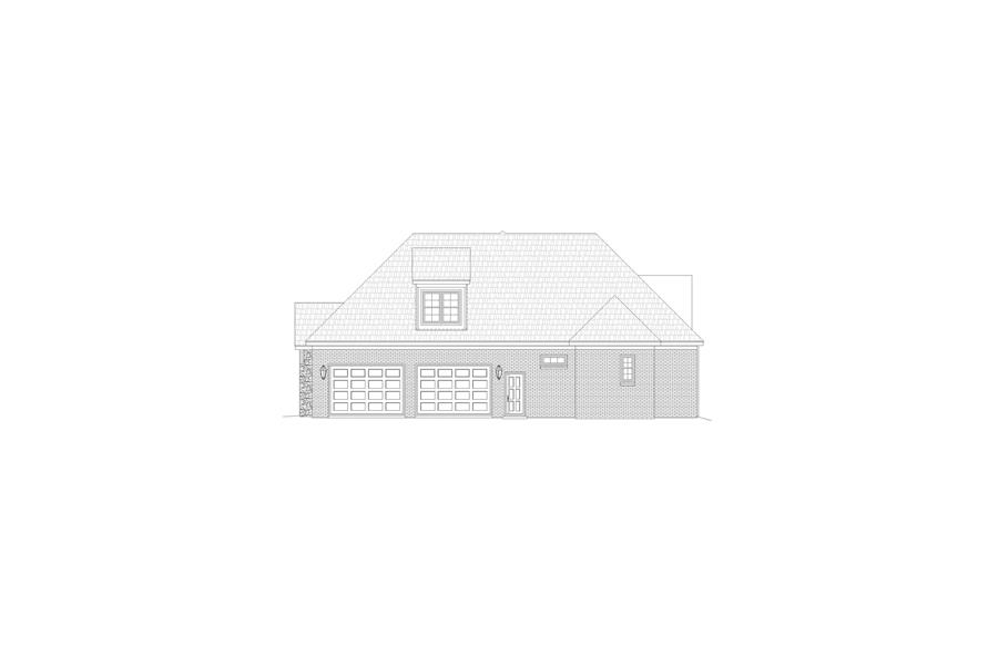 Home Plan Right Elevation of this 3-Bedroom,3447 Sq Ft Plan -196-1161