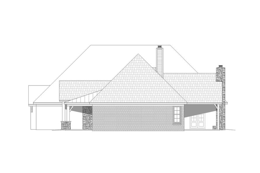 Home Plan Right Elevation of this 3-Bedroom,3817 Sq Ft Plan -196-1165