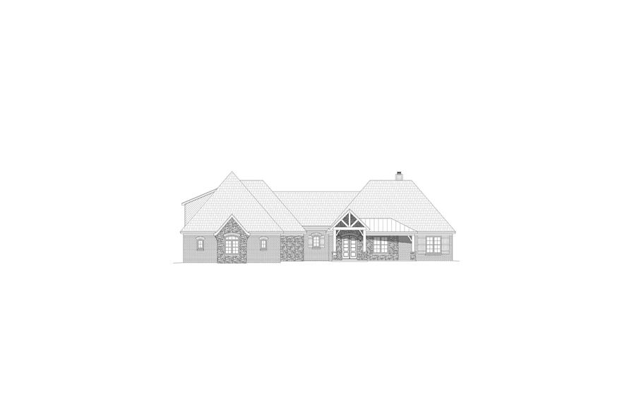 Home Plan Front Elevation of this 3-Bedroom,2819 Sq Ft Plan -196-1166