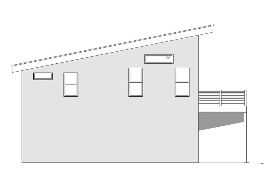Home Plan Left Elevation of this 1-Bedroom,1130 Sq Ft Plan -196-1174
