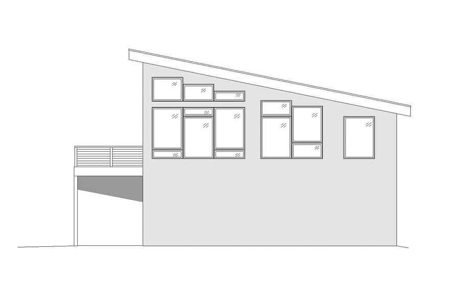 Home Plan Right Elevation of this 1-Bedroom,1130 Sq Ft Plan -196-1174
