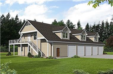 2-Bedroom, 2500 Sq Ft Farmhouse House Plan - 196-1175 - Front Exterior