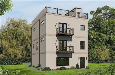 2-Bedroom, 1501 Sq Ft Modern House Plan - 196-1176 - Front Exterior